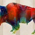 Buffalo Animal Print - Wild Bill - By Sharon Cummings by Sharon Cummings