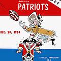 Buffalo Bills 1963 Playoff Program by John Farr