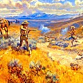 Buffalo Bills Duel With Yellowhand by Charles Russell