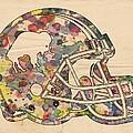 Buffalo Bills Vintage Art by Florian Rodarte