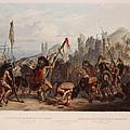 Buffalo Dance Of The Mandan Indians by Karl Bodmer