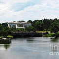 Buffalo History Museum And Delaware Park Hoyt Lake Oil Painting Effect by Rose Santuci-Sofranko