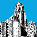 Buffalo New York Skyline 1 - Ice Blue by DB Artist