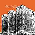 Buffalo New York Skyline 2 - Coral by DB Artist