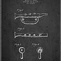 Bugle Call Instrument Patent Drawing From 1939 - Dark by Aged Pixel