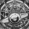 Buick Skylark Wheel Black And White by Jill Reger