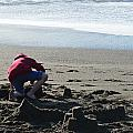 Building A Sand Castle  by Brent Dolliver
