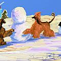Building A Snowman by Terry  Chacon