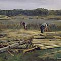 Building Site At Wesslingersee, 1876 Oil On Canvas by Heinrich Wilhelm Truebner