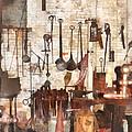 Building Trades - Hand Tools In Machine Shop by Susan Savad