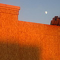 Building Under Construction Moon Rising Casa Grande Arizona 2004 by David Lee Guss