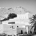 buildings and palm trees overground on the surface at Matmata Tunisia by Joe Fox