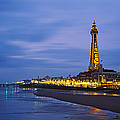 Buildings Lit Up At Dusk, Blackpool by Panoramic Images