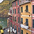 Buildings Of Vernazza by Betty Eich