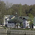 Buildings On The Shore Of Section Of Dal Lake In Srinagar by Ashish Agarwal