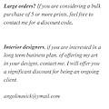 Bulk Orders by Angelina Tamez