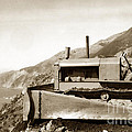 Bull Dozer Road Construction On Highway One Big Sur Circa 1930 by California Views Archives Mr Pat Hathaway Archives