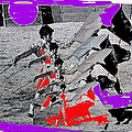Bull Fight Matador Charging Bull Collage Us-mexico Mexico Border Town Nogales Sonora Mexico   1978-2 by David Lee Guss