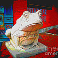 Bull Frog Painted by Kelly Awad