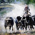 Bull Herd by Miki De Goodaboom