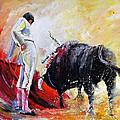 Bull In Yellow Light by Miki De Goodaboom