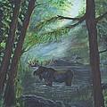 Bull Moose Pond by Leslie Allen
