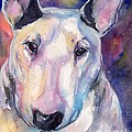 Bull Terrier by Maria's Watercolor