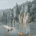 Bullard Rock On The New River by Edward Beyer