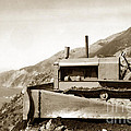 Bulldozer Working On Highway One Big Sur Circa 1930 by California Views Archives Mr Pat Hathaway Archives