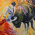 Bullfighting In Neon Light 02 by Miki De Goodaboom