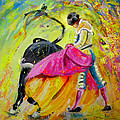 Bullfighting In Neon Light 01 by Miki De Goodaboom