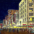 Bullock's Department Store On Broadway In Downtown Los Angeles Ca Around 1940 by Dwight Goss