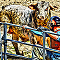 Bullrider And His Bull by Alice Gipson