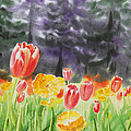 Bunch Of Tulips I by Irina Sztukowski