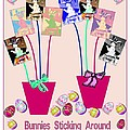 Bunnies Sticking Around For Easter by Marian Bell