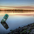 Buoy On The Bank by Larry Braun