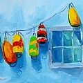Painted Buoys And Boat Floats  by Patricia Awapara