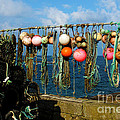 Buoys And Pots In Sennen Cove by Terri Waters