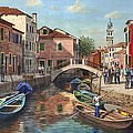 Burano Canal Venice by Richard Harpum