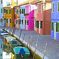 Burano District Venice Italy by Dean Wittle