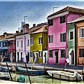 Burano Italy - Colorful Homes by Jon Berghoff