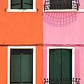 Burano Pink And Orange by Inge Johnsson