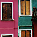 Burano Windows by Mike Nellums