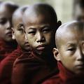 Burma Monks 2 by David Longstreath