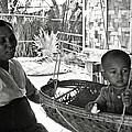 Burmese Grandmother And Grandchild by RicardMN Photography