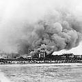 Burning Of The Breakers Hotel by Underwood & Underwood