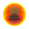 Burning Orb With Poem by Brent Dolliver