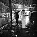 Bus Stop In The Rain by Miriam Danar