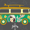 Bus With Surfboard by Naches
