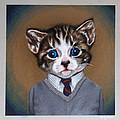 Business Casual Kitten by Emily Frew